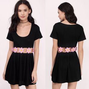 Tobi dress with daisy cutout detail - Medium
